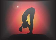 Yoga Forward Fold Pose Glare Background Royalty Free Stock Photo