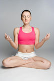 Yoga-Frau stockbild