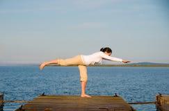 Yoga-Frau stockbilder