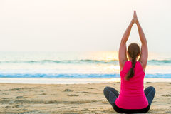 Yoga in the fresh air Stock Image