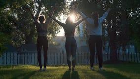 Yoga in the fresh air at dawn.