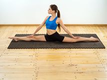 Yoga front splits Royalty Free Stock Photo
