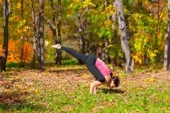Yoga galavasana pose Stock Images