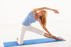Yoga gate pose Royalty Free Stock Photo