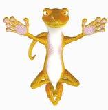 Yoga Gecko Toon lizenzfreie abbildung