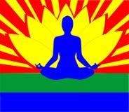 Yoga: Geisteszustand, Karosserie und Seele. Stockfotografie
