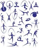 Yoga, geschiktheid Royalty-vrije Stock Fotografie