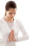 Yoga gesture namaste Royalty Free Stock Images