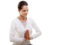 Yoga gesture namaste Royalty Free Stock Images