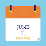 Yoga giorno 21 giugno royalty illustrazione gratis
