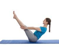 Yoga - giovane bella donna che fa yoga Immagini Stock