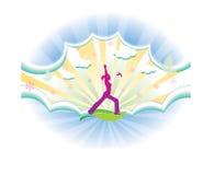 Yoga girl royalty free illustration