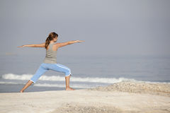 Yoga girl Stock Images