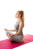Yoga girl Royalty Free Stock Photos
