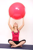 Yoga girl Stock Images