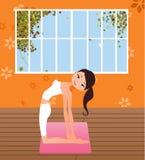 Yoga girl. Pretty girls in healthy yoga pose Stock Photo