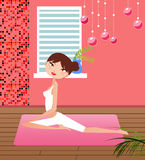 Yoga girl Stock Image