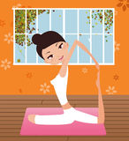 Yoga girl. Pretty girls in healthy yoga pose Royalty Free Stock Images