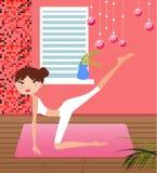 Yoga girl stock illustration