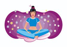 Yoga girl Royalty Free Stock Photography