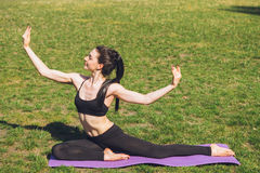 A yoga girl Royalty Free Stock Photo