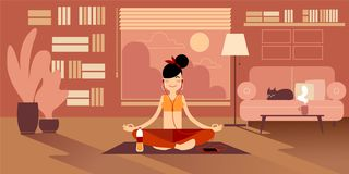 Yoga Girls royalty free illustration