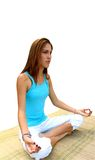Yoga girl - isolated Royalty Free Stock Photos
