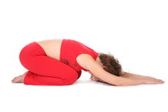 Yoga girl lie Royalty Free Stock Photos