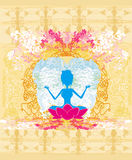 Yoga girl in lotus position Royalty Free Stock Photo