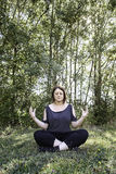 Yoga girl nature Royalty Free Stock Images