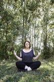 Yoga girl nature Stock Image