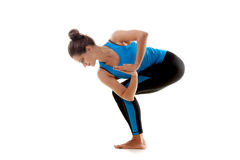 Yoga girl practicing Stock Photos