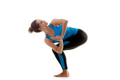 Yoga girl practicing Stock Images