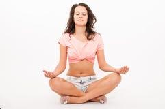 Yoga girl Stock Photos