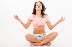 Yoga girl Royalty Free Stock Photo