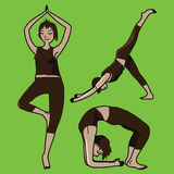 Yoga girls Stock Photography