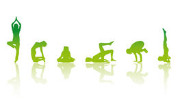 YOGA Girls. 6 YOGA Girls Vector Illustration Stock Image