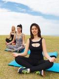 Yoga Girls Stock Image