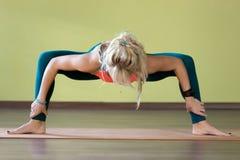 Yoga Goddess pose Stock Photos