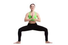 Yoga Goddess Pose (Utkata Konasana) Royalty Free Stock Images
