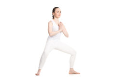 Yoga Goddess Pose (Utkata Konasana) Stock Photos