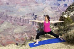 Yoga at Grand Canyon Royalty Free Stock Photo