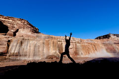 Yoga at Grand Falls Stock Photography