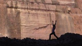Yoga at Grand Falls stock video footage