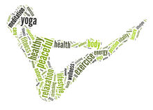 Yoga graphics royalty free stock photo