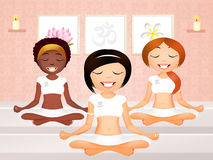 Yoga group Stock Images