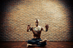 Yoga guru Stock Photo