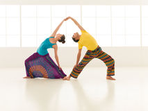 Yoga gym vibrant color royalty free stock images
