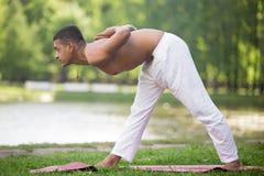 Yoga half Pyramid Pose Stock Photography