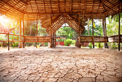 Yoga hall in India Royalty Free Stock Photo